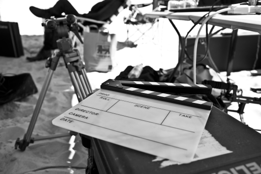 Clapboard and Tripod
