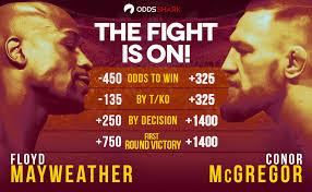 Mayweather - McGregor Odds