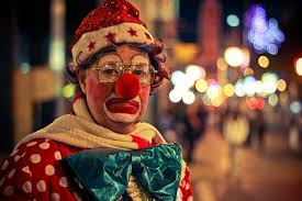 oddly sad clown
